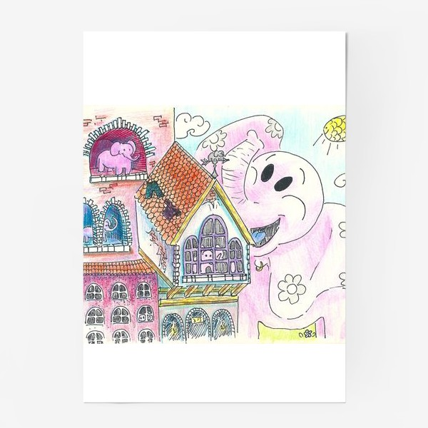 Постер «Атака розовых титанов»