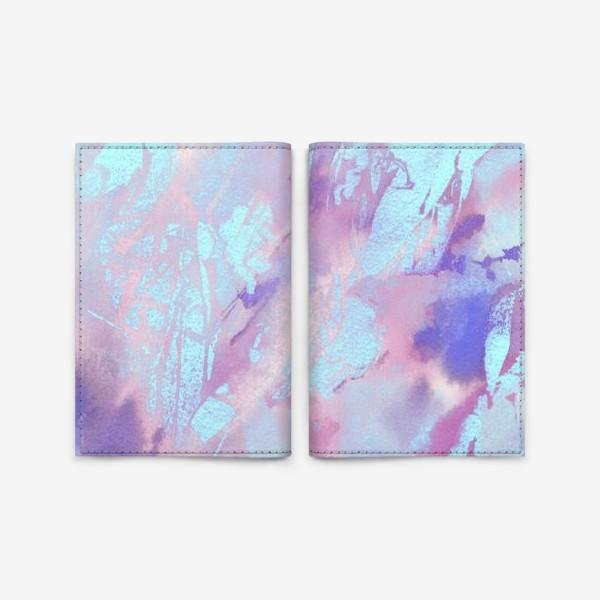 Обложка для паспорта «Абстракция. Розовый и голубой»
