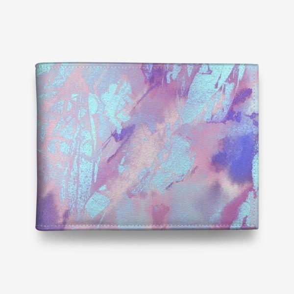 Кошелек «Абстракция. Розовый и голубой»