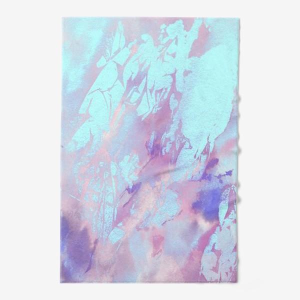 Полотенце «Абстракция. Розовый и голубой»