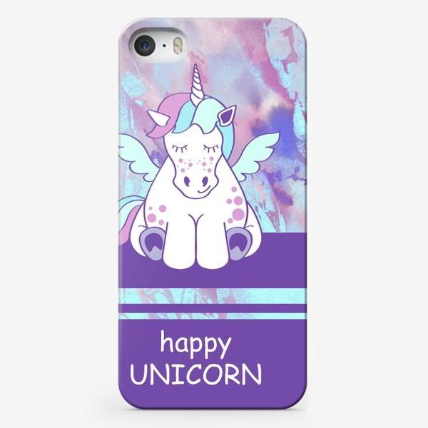 Чехол iPhone «Счастливый Единорог»
