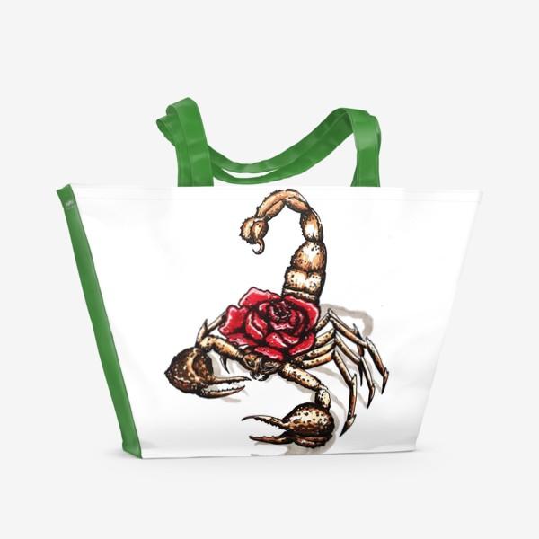 Пляжная сумка «Подарок для скорпиона»