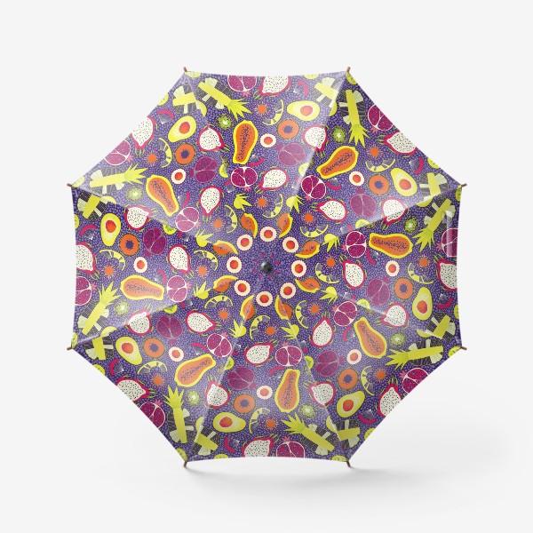 Зонт «Экзотические фрукты, паттерн»
