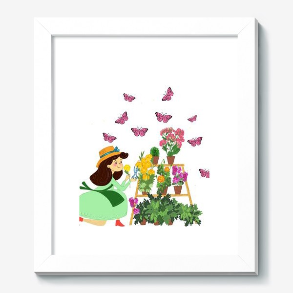 Картина «Бабочки и цветы»