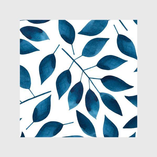 Шторы «Синие листья»