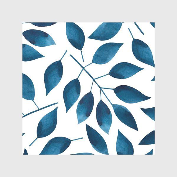 Скатерть «Синие листья»