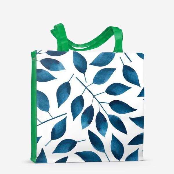 Сумка-шоппер «Синие листья»