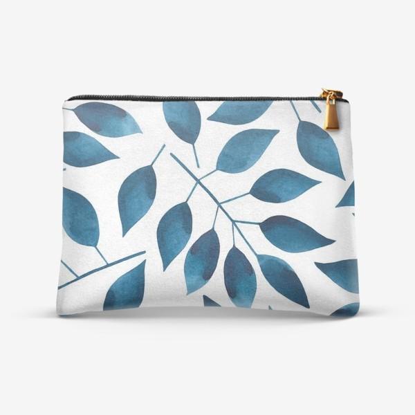 Косметичка «Синие листья»