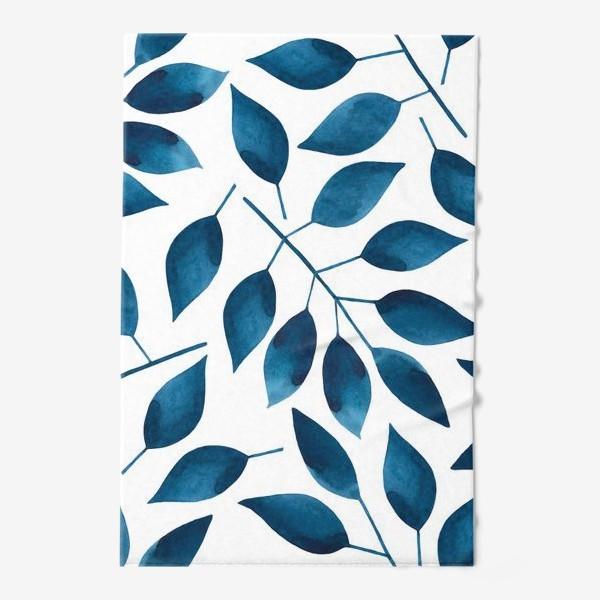 Полотенце «Синие листья»