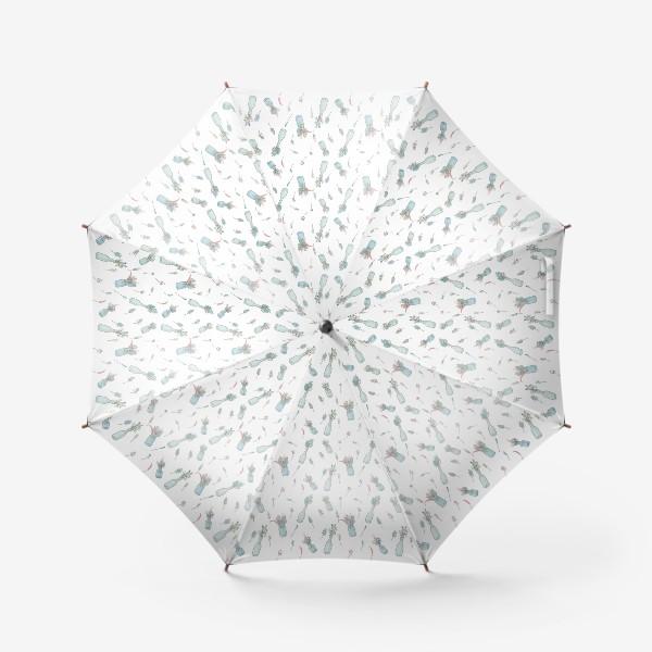 Зонт «Паттерн с букетами полевых цветов»