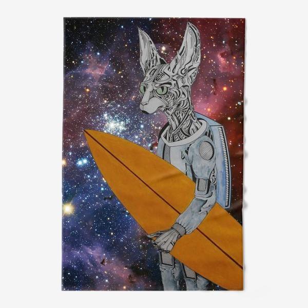 Полотенце «кот серфер»