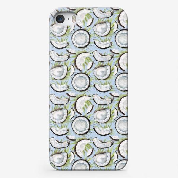 Чехол iPhone «кокосы на светлом фоне»