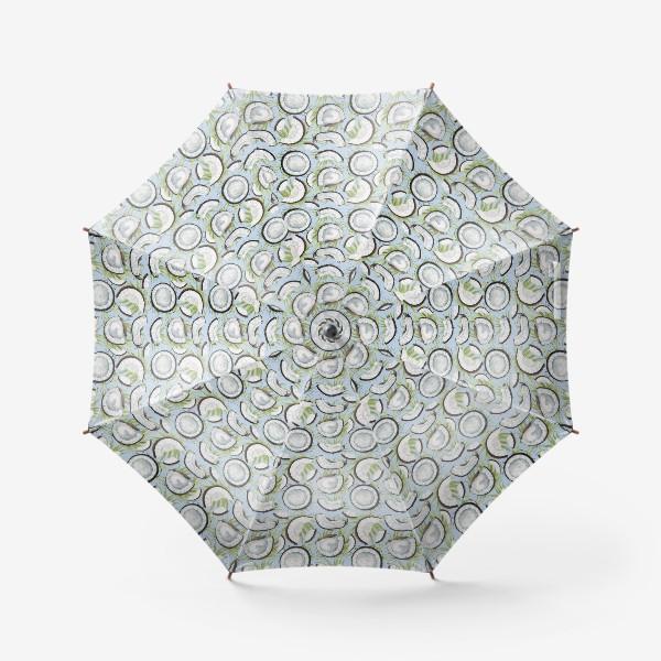 Зонт «кокосы на светлом фоне»