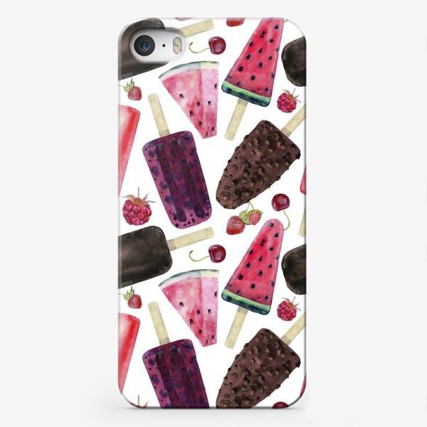 Чехол iPhone «мороженое,фрукты,ягоды»