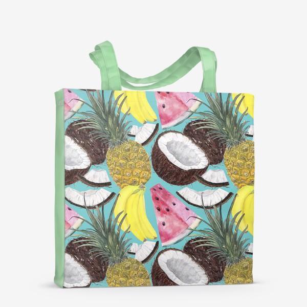 Сумка-шоппер «фруктовый паттерн»