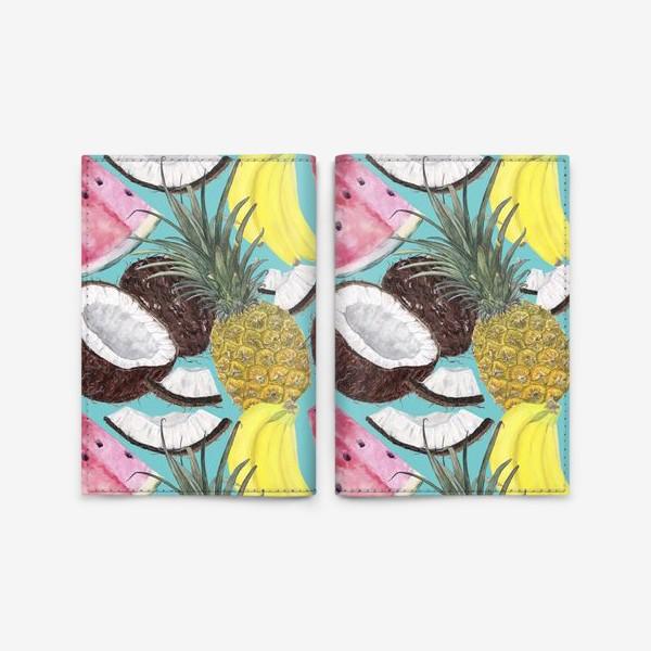 Обложка для паспорта «фруктовый паттерн»