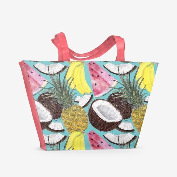 Пляжная сумка «фруктовый паттерн»