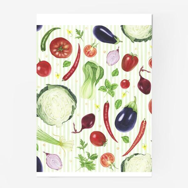 Постер «Овощной принт»