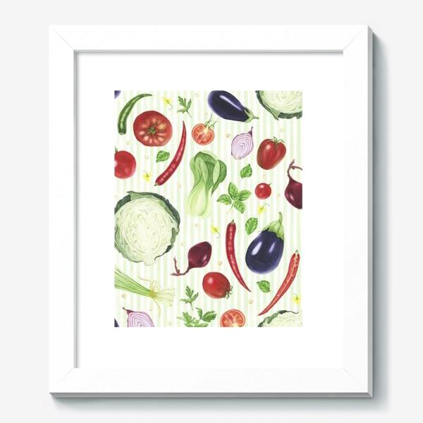 Картина «Овощной принт»