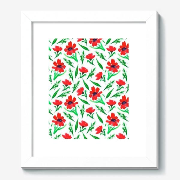 """Картина «Акварельный принт """"Красные тюльпаны""""»"""