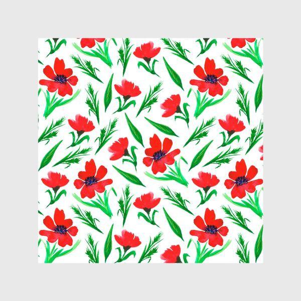 """Шторы «Акварельный принт """"Красные тюльпаны""""»"""