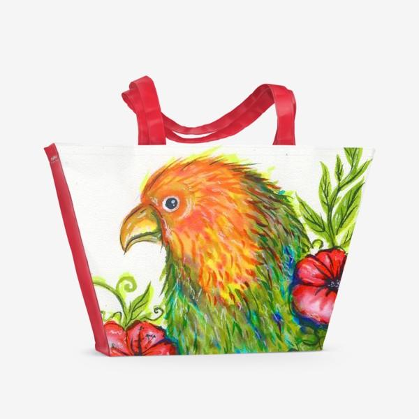 Пляжная сумка «Тропический попугай»