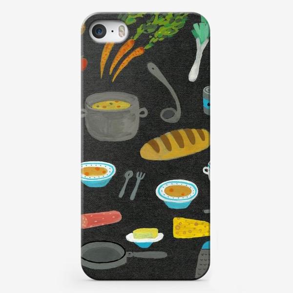 Чехол iPhone «вкусная и полезная еда»