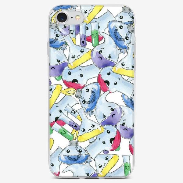 Чехол iPhone «Склянки химические»