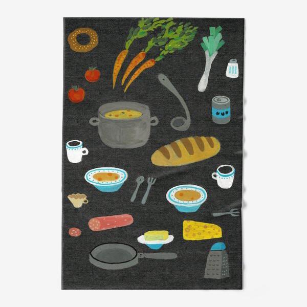 Полотенце «вкусная и полезная еда»