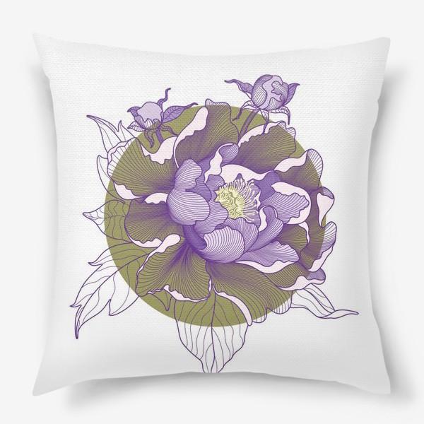 Подушка «Цветок пион»