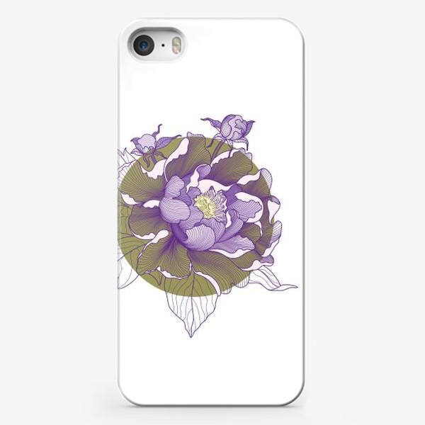 Чехол iPhone «Цветок пион»