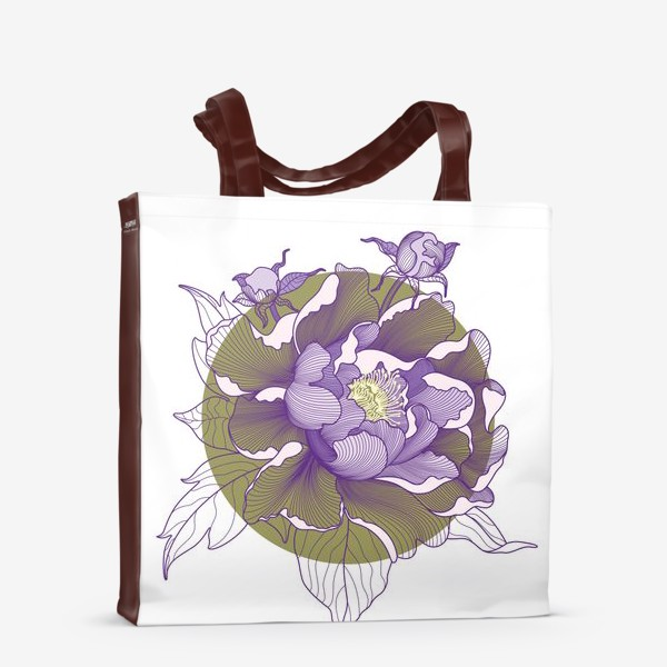 Сумка-шоппер «Цветок пион»