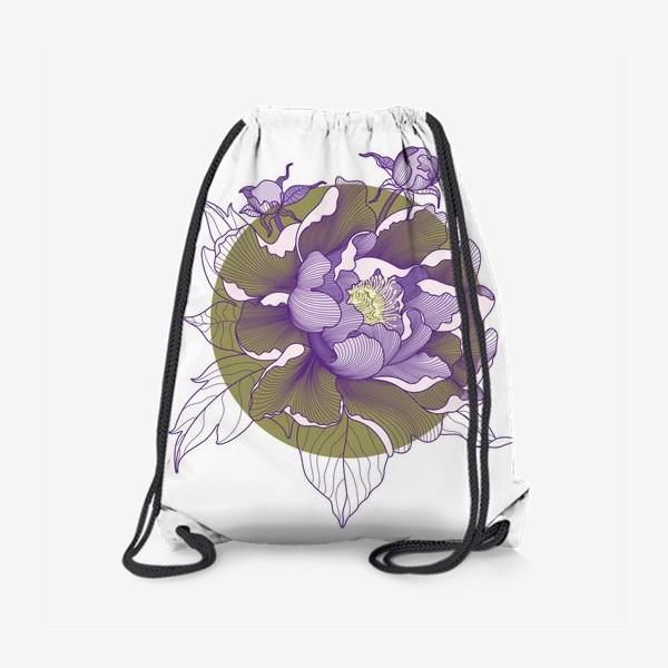 Рюкзак «Цветок пион»
