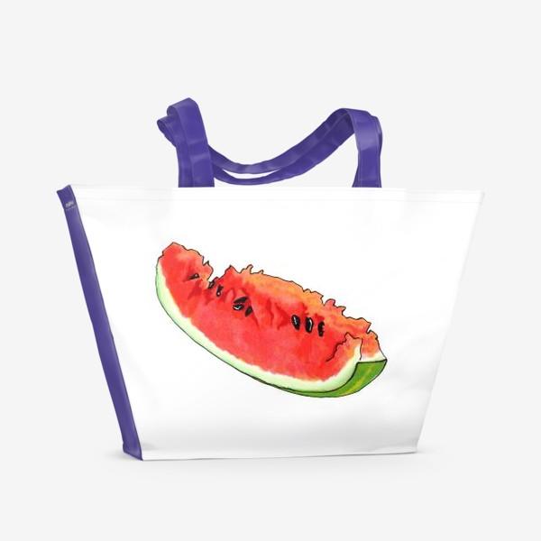 Пляжная сумка «Жизнерадостный арбуз»