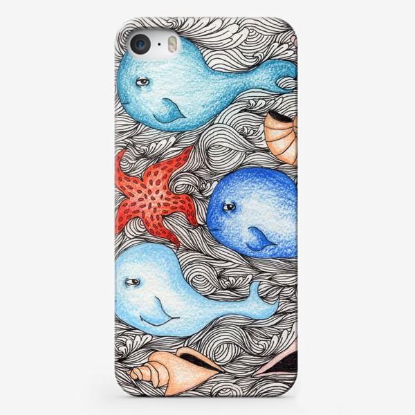 Чехол iPhone «Киты и ракушки»