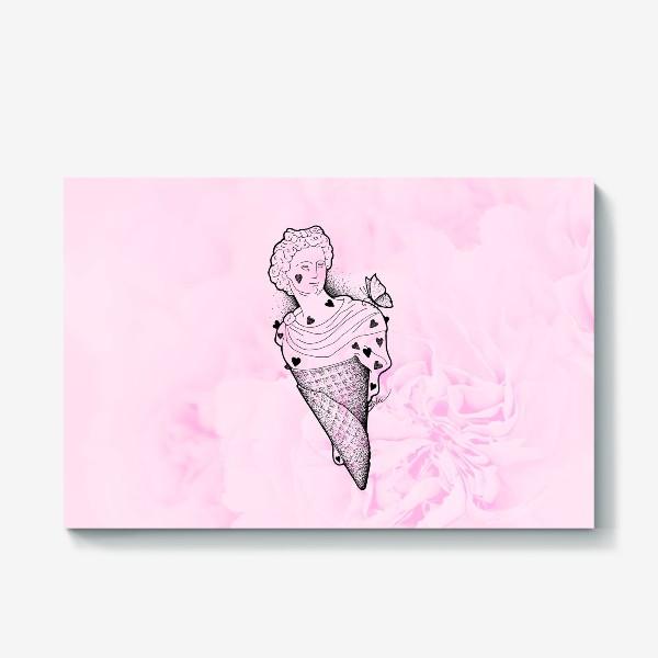 Холст «Аполлон (сердце, любовь, нежность, бабочка, мороженое)»