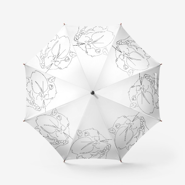 Зонт «Хомяк. Графика. Линейный рисунок»