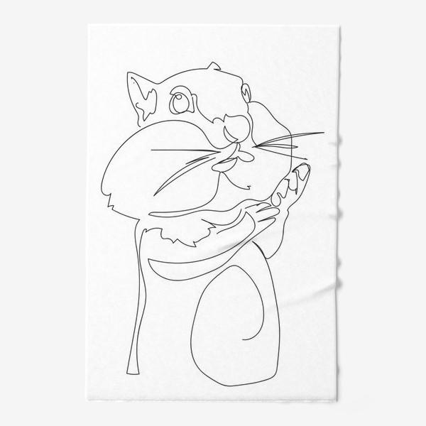 Полотенце «Хомяк. Графика. Линейный рисунок»