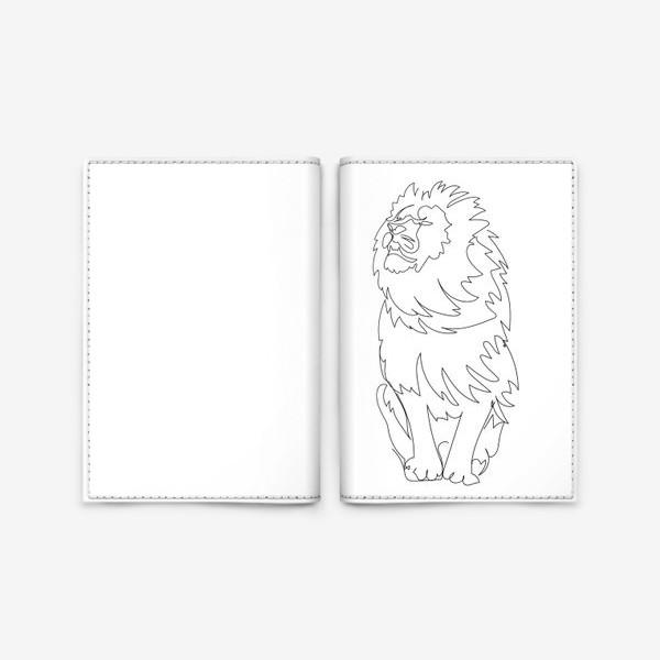 Обложка для паспорта «Лев. Графика. Линейный рисунок»