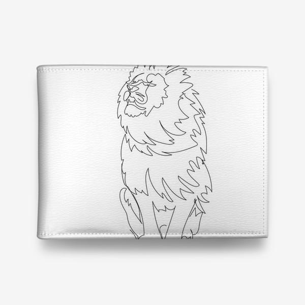 Кошелек «Лев. Графика. Линейный рисунок»