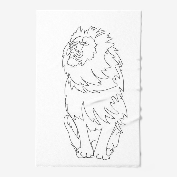 Полотенце «Лев. Графика. Линейный рисунок»