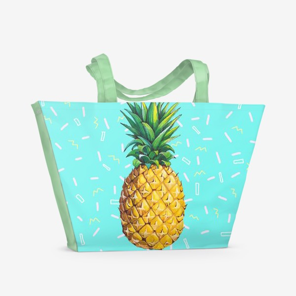 Пляжная сумка «Сочный ананас »