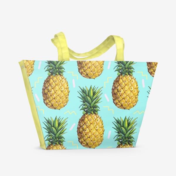 Пляжная сумка «Ананасовый паттерн»