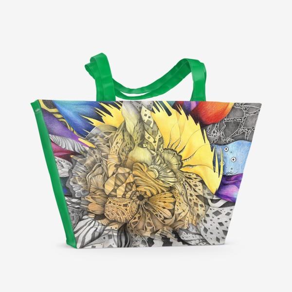 Пляжная сумка «Узор, орнамент, абстракция»