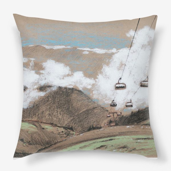 Подушка «Над облаками В горах»