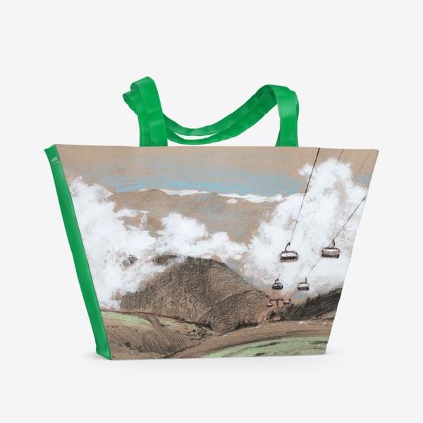 Пляжная сумка «Над облаками В горах»