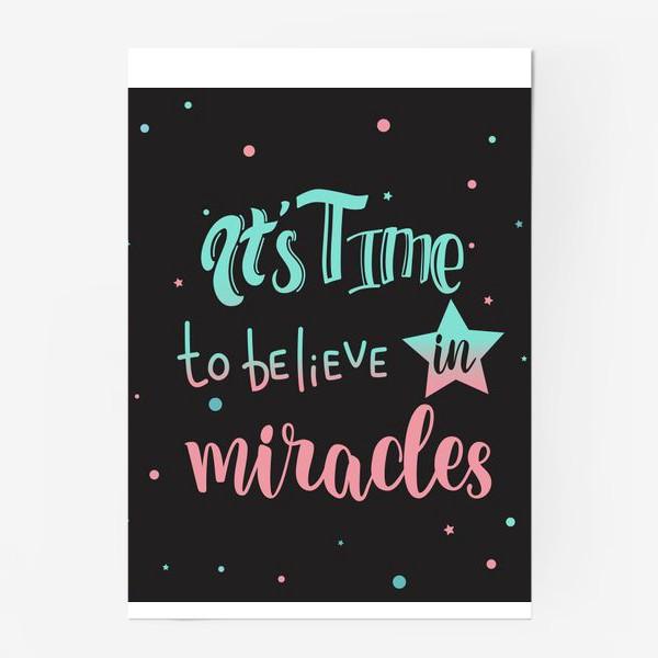 Постер «Время верить в чудеса»