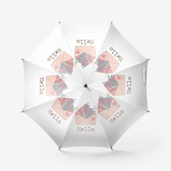 Зонт «Конверт с цветами»