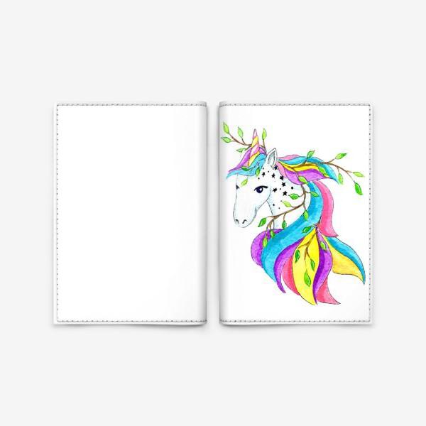 Обложка для паспорта «Единорог»
