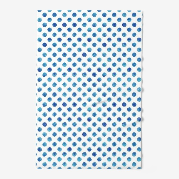 Полотенце «Горох голубой, паттерн»